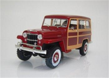 Modellauto:Willys Jeep Station Wagon von 1955, burgund(Lucky DieCast, 1:18)