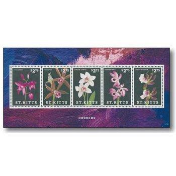 Orchideen - Briefmarken-Block postfrisch, St. Kitts