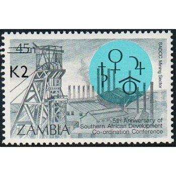 Südafrikanische Entwicklungskonferenz - Briefmarke mit lokalem Aufdruck, Katalog-Nr. 567, Sambia