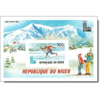 Olympische Winterspiele 1980, Lake Placid - Briefmarken-Block ungezähnt postfrisch, Katalog-Nr. 690