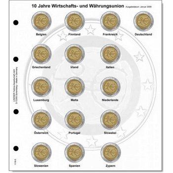 Lindner Vordruckblatt inkl. Münzblatt für 2 Euro-Gedenkmünzen chronologisch: Gemeinschaftsausgabe &q