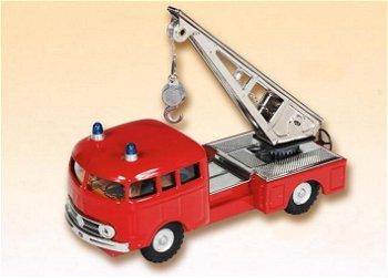 Blechmodell:Mercedes-Benz 335 Feuerwehr Kranwagen(Kovap, 1:43)