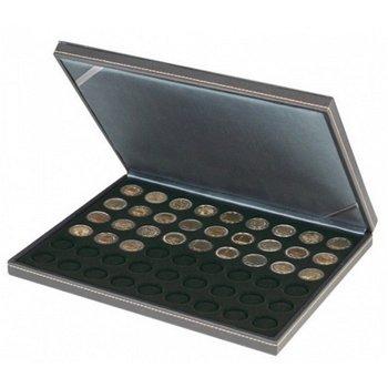 Nera Münzkassette M für 2 Euro Münzen, Münzeinlage schwarz, Lindner 2364- 2154CE