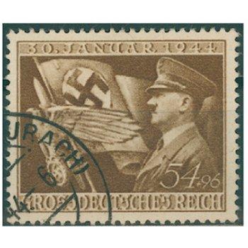 11. Jahrestag der Machtergreifung - Briefmarke, Katalog-Nr. 865, gestempelt, Deutsches Reich