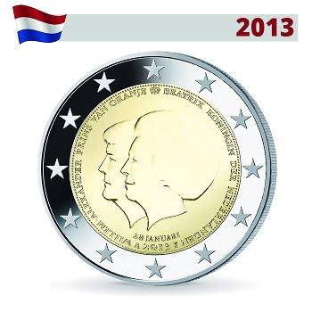 2 Euro Münze 2013, Thronwechsel, Niederlande