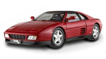 Modellauto:Ferrari 348 TS, rot(Hot Wheels Elite, 1:18)