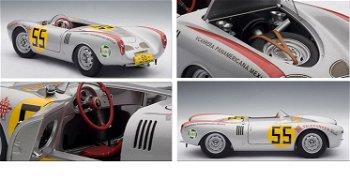 """Modellauto:Porsche 5501500 Spyder- Carrera Panamericana -mit # 55 von 1954""""Hans Herrmann""""(AUTOart, 1"""