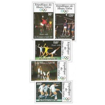 Olympische Sommerspiele, Los Angeles – Briefmarken postfrisch, ungezähnt, Katalog-Nr. 929-933, Oberv