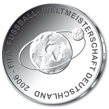 Fußball-Weltmeisterschaft 2006, 2. Ausgabe, 10-Euro-Silbermünze 2004, Polierte Platte