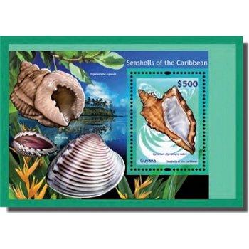 Muscheln - Briefmarken-Block, Guyana