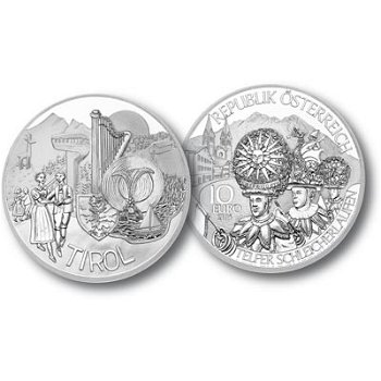 Serie Bundesländer - Tirol, 10 Euro Silbermünze, Österreich
