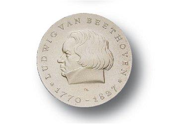 10-Mark-Münze 1970, 200. Geburtstag Ludwig von Beethoven, DDR
