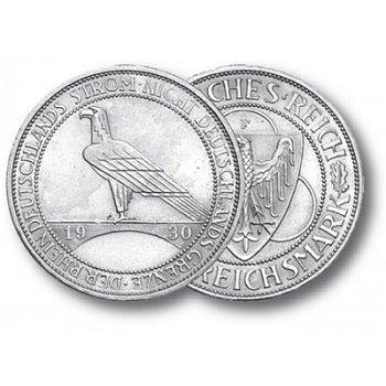 Rheinlandräumung, 5 Reichsmark, Jaeger-Nr. 346, Weimarer Republik