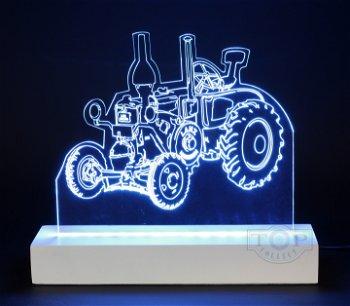 Exklusives LED-Lichtkunstwerk:Lanz Ackerluft Bulldog- Einzelstück -