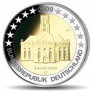 2 Euro Münze 2009, Ludwigskirche / Saarland, Deutschland, 1 Prägezeichen
