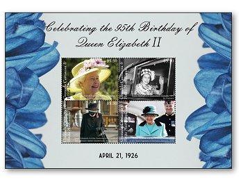 95th birthday of Queen Elizabeth II - pad mint never hinged, Marshall Islands
