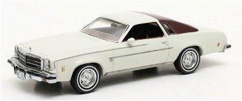 Modellauto:Chevrolet Chevelle Malibu Hardtopvon 1974, weiß(Matrix, 1:43)