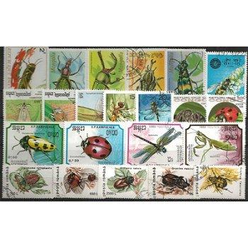Insekten und Käfer - 100 verschiedene Briefmarken