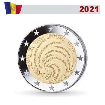 50 Jahre Allgemeines Frauenwahlrecht in Andorra - 2 Euro Gedenkmünze, Andorra