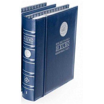 Vordruckalbum Optima, Band 1, für 10-Euro-Münzen 2002 - 2009, inkl. Schutzkassette, Leuchtturm 34101