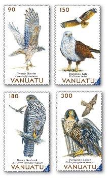 Vögel - 4 Briefmarken postfrisch, Vanuatu