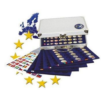 SAFE - Alu Münzkoffer für Euro-Sätze, inkl. 6 Tableaus, Safe 177
