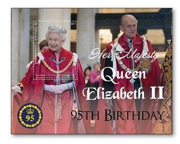 95. Geburtstag Königin Elisabeth II. - Block postfrisch, St. Vincent