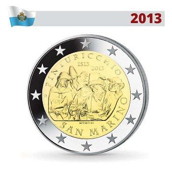 2 Euro Münze 2013 im Blister, 500. Todestag von Pinturicchio, San Marino