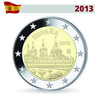 2 Euro Münze 2013, Schloss und Kloster El Escorial, Spanien
