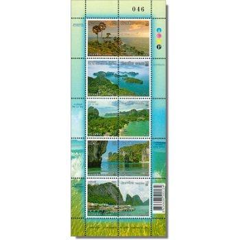 Freimarken: Küstenlandschaften - Briefmarken-Kleinbogen postfrisch, Thailand