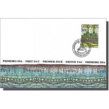 """Friedensreich Hundertwasser """"Schifffahrt"""" - Ersttagsbrief, Katalog-Nr. 497, Kap Verde"""
