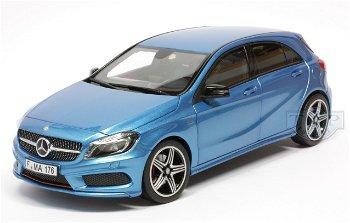 Modellauto:Mercedes-Benz A Klasse 250 Sport von 2012, blau-metallic(Norev, 1:18)