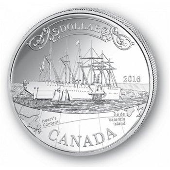 150 Jahre Transatlantisches Kabel - Silberdollar 2016, 1 Dollar Silbermünze, Canada