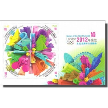 Olympische Spiele 2012 - Briefmarken-Block, Hongkong