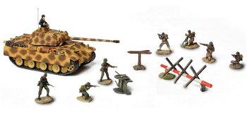 Modell-Panzer:Deutscher Panther Ausführung Gund Soldaten-Set, Normandy 1944(Unimax/Forces of Valor,
