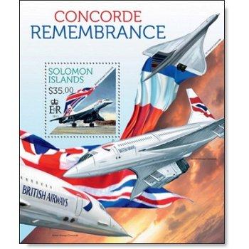 Concorde - Briefmarkenblock postfrisch, Salomon-Inseln