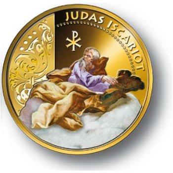 Die zwölf Apostel/Judas - vergoldete Farbmünze, Fiji