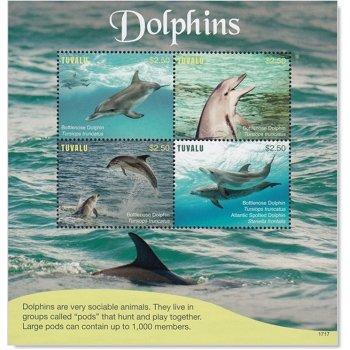 Delphine - Briefmarkenblock postfrisch, Tuvalu