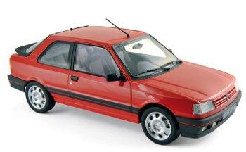 Modellauto:Peugeot 309 GTi von 1988, rot(Norev, 1:18)