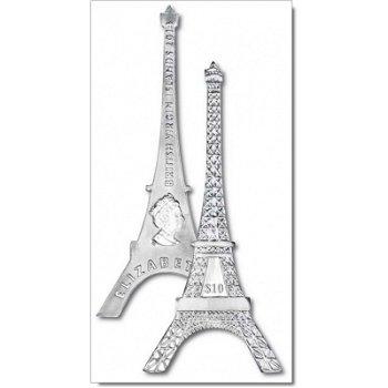 10-Dollar-Silbermünze - Eiffelturm, Britische Jungferninseln