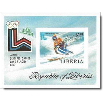 Olympische Winterspiele 1980, Lake Placid – Briefmarken-Block postfrisch, ungezähnt, Katalog-Nr. 117