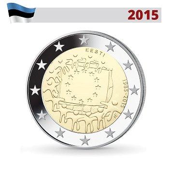 30 Jahre Europaflagge, 2 Euro Münze 2015, Estland