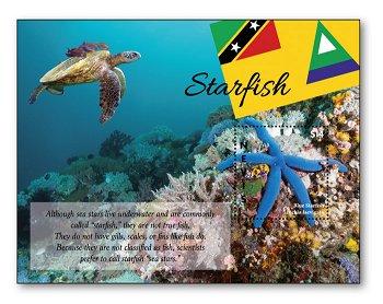 Seesterne - Block postfrisch, Nevis