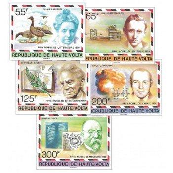 Nobelpreisträger – Briefmarken postfrisch, ungezähnt, Katalog-Nr. 684-688, Obervolta
