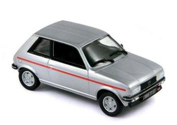 Modellauto:Peugeot 104 ZS von 1979, silber(Norev, 1:43)