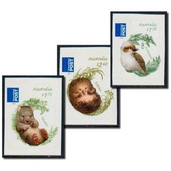 Tierbabys - 3 Briefmarken selbstklebend postfrisch, Australien