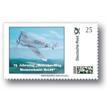 75. Jahrestag Weltrekordflug Messerschmitt Me 109 - Marke Individuell postfrisch, Deutschland