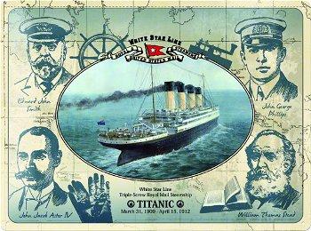 Blechschild:White Star Line- Titanic -(Nostalgic Art, 40 x 30 cm)