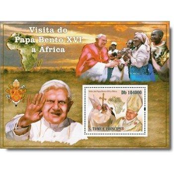 Besuch von Papst Benedikt XVI. in Afrika - Briefmarken-Block, St. Thomas
