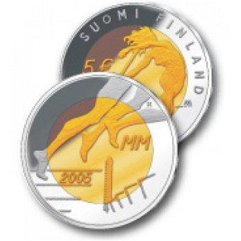 """5-Euro-Bimetallmünze """"Leichtathletik-WM 2005"""", Finnland"""